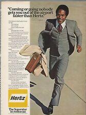 1978 HERTZ rent-a-car advertisement, with running O. J. SIMPSON