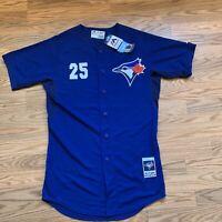 Majestic Authentic MLB Toronto Blue Jays Carlos Delgado Jersey Size 40