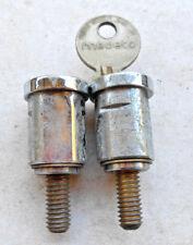 2  MEDECO  locks  with 1 Key   vending   machine   Locksmith,Collectors