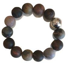 Simon Sebbag Designs -Bracelet Wood Tones W/Ss Ball - Large Beads New-Stunning