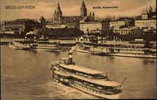 Rhein Schiff Schiffe Partie in MAINZ Hafen Anlegestelle Dampfer alte AK ~1910
