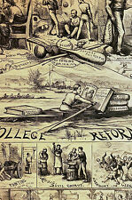 Thomas Nast 1869 COLLEGE REFORM No Smoking Drinking MATH SCIENCE Print Matted