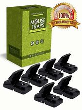 Plastic Mouse Rat Mice Trap Lot 6 Snap Traps Killer Outdoor Indoor Best Better
