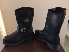 Easyriders Roadware Mens 8M Steele Toe Black Leather Boots NIB Style 2515