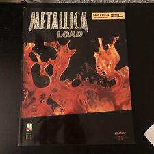Metallica Load Bass Guitar Tab / Tablature Book - Cherry Lane 1996 W/ Poster