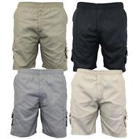 mens cargo combat knee length shorts