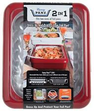 Fancy Panz 2 in 1 Portable Casserole Serveware Fits Shallow and Deep 9 x 13 RED