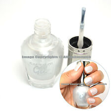 1 Kleancolor Gel Effect Nail Polish Lacquer G008 Silver No UV Lights Needed!