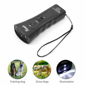 Ultrasonic Dog Chaser Stop Aggressive Animal Attacks Repeller Flashlight NYPR@