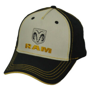 Ram Trucks Division Truck Pick Up Automobile Brand Curved Bill Hat Cap Black