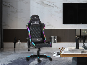 Gaming Chair with RGB LED Light Computer Desk Chair Recline for Office & home