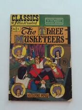 Classics Illustrated #1 - THE THREE MUSKETEERS - HRN 78 - VG