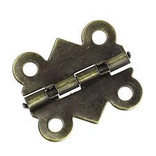 50 Bronzefarben 4 Löcher Türangel Torangel Einstemmband Türband 20x17mm B32888