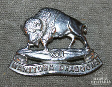 12th Manitoba Dragoons Chromed Belt Buckle Badge  (inv19104)