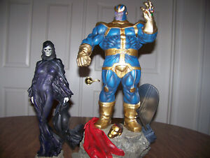 SIDESHOW THANOS & MISTRESS (LADY) DEATH EXCLUSIVE VERSION STATUE