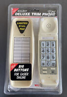 New Sealed Lenoxx Deluxe Trim Phone Model PH-300 Desk Wall Mount Touch Ivory
