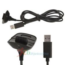 USB Charging Cable Replacement Charger For Xbox 360 Wireless Controller Black