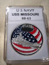 US NAVY USS MISSOURI BB-63 Challenge Coin