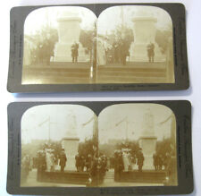 STEREOVIEW Unveiling The Queen Victoria Statue at Blackburn 2 x Views 1905