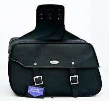 MOTORBIKE SADDLE BAGS 100% LEATHER, BLACK, BRAND NEW, PL2659