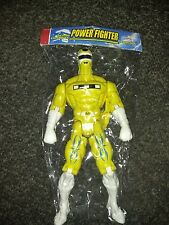 """Power Rangers yellow Figure, 12"""", bootleg power fighter with LED light up mib"""