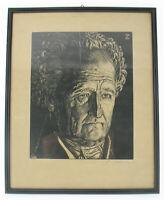 Oskar von Zaborsky-Wahlstätten Holzschnitt Johann Wolfgang von Goethe signiert