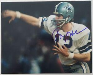 Roger Staubach Signed 11x14 Photo Dallas Cowboys Navy NFL Football HOF Legend