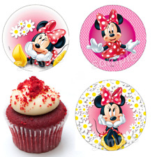 Minnie Maus Mouse Eßbar Tortenbild NEU Party Deko Muffinaufleger Geburtstag