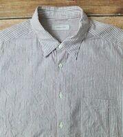 Recent Ermenegildo Zegna Mens Long Sleeved Shirt Sz XXL Textured Striped