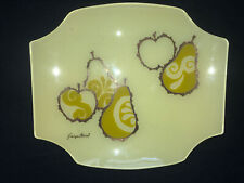 Georges Briard glass tray fruit yellow vintage Mid Century Modern imperfect