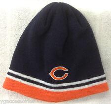 NFL Chicago Bears Reebok Cuffless Winter Knit Hat Cap Beanie NEW