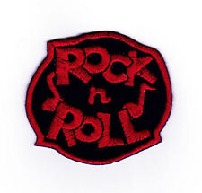 ac26 Rock n Roll Musik Noten Aufnäher Bügelbild Patch Rockabilly 6,8 x 6,3 cm