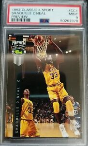 1992 Classic 4 Sport Shaquille O'Neal Preview #CC1 PSA 9