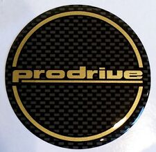 Prodrive - 555 Subaru Impreza Gold / Black 60mm Gel wheel centres x 4