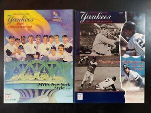 New York Yankees 1986 & 1987 Official Yearbook (MLB Baseball)