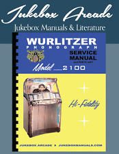 New! Wurlitzer Model 2100 Service Manual & Parts Lists with Full Color Brochure