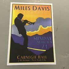 MILES DAVIS - CONCERT POSTER CARNEGIE HALL NEW YORK 3RD MARCH 1974   (A3 SIZE)
