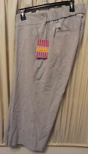 Maternity-Size-XL-Capri-Pants-Gray-Underbelly-Oh-Baby-by-Motherhood-Low-Rise