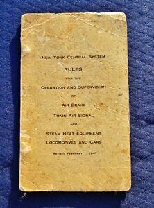 1953 NY Central Railroad RULES Air Brake TRAIN AIR SIGNAL Steam Heat Locomotives