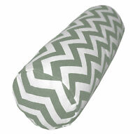 ae+5 Zig Zag Wave Pattern Cotton Canvas Bolster Yoga Cushion Cover Custom Size