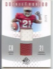 antrel rolle rookie rc dual jersey ball patch giants miami hurricanes canes #/75