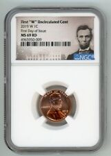 2019 W LINCOLN PENNY 1C UNCIRCULATED CENT NGC MS 69 RD FIRST DAY OF ISSUE 50-009