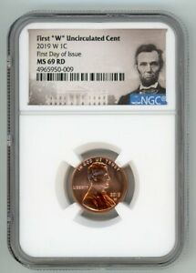 2019 W LINCOLN CENT 1C UNCIRCULATED CENT NGC MS 69 RD FIRST DAY OF ISSUE