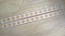 Westco Self-Adhesive Vinyl Flooring Border Tiles Diamond & Square - Wood Effect