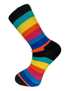 Frederick Thomas rainbow striped mens cotton socks