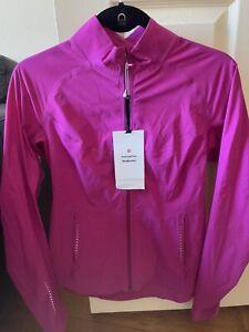 New W Tag Lululemon Fast And Fee Windbreaker jacket in Ripened Raspberry Pink 8