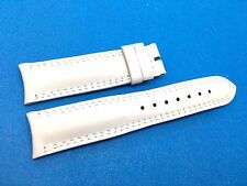 Brand New Jaeger Le Coultre White Genuine Leather Band Strap