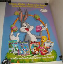 Rolled 1991 Warner Brothers Looney Tunes Easter Video Promo Poster Bugs Bunny