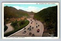 Hollywood CA, Entrance, Cahuenga Pass, Vintage California Postcard