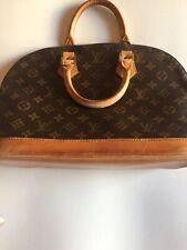 Authentic LOUIS VUITTON Alma Hand Bag Monogram Leather Brown M51130 69BK902